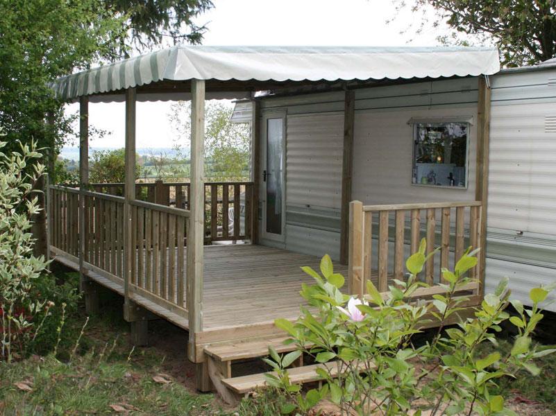 La Terrasse De Mobil Home Couverte Par Ateria Terrasse