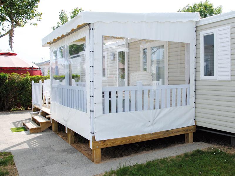 Couverture Terrasse Mobil Home : La Terrasse Mobil Home Mixte PVC U0026  Bois, Une Exclusivit
