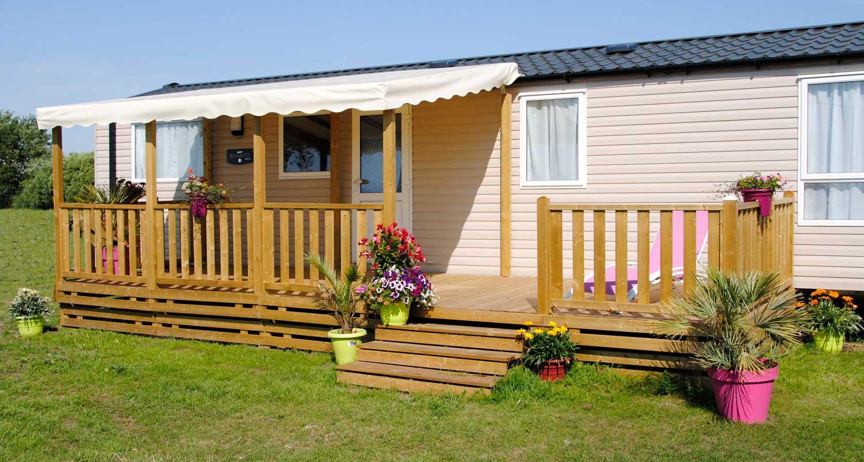 Terrasse Fermée En Bois la terrasse de mobil home couverte par ateria® terrasse